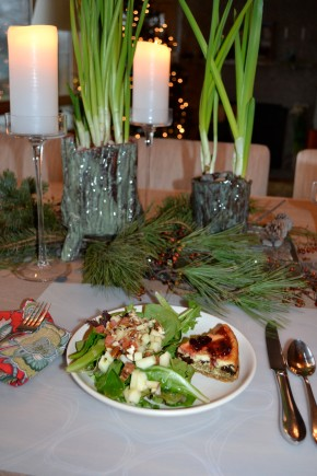 """Christmas Eve Torte: A sweet and savory side for salad, or after dinner """"cheese"""" dish with a glass ofPort"""