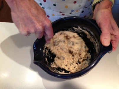 Stirring in the cream