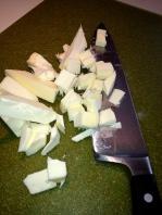 Chopping frozen butter
