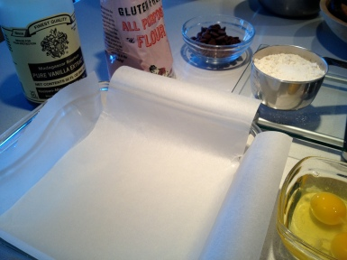 Preparing the pan
