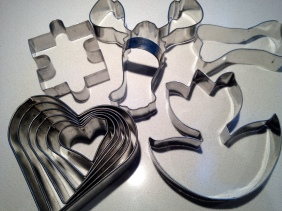 Remaining cookie cutters.