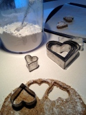 Cutting the dough....