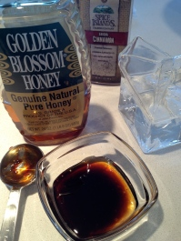 Combining the honey and molasses