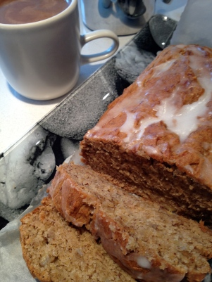 It doesn't get better than warm banana cake fresh from the oven!