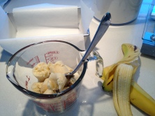 Mashing the bananas: 1 cup