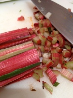 Dicing some chard stalks for Round #2