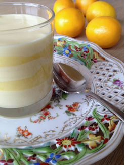 White Chocolate Mousse with Meyer Lemon Curd