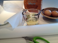Line the 8 x 8 pan with parchment paper