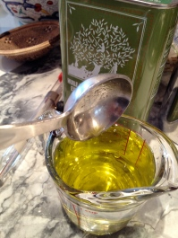 Water plus olive oil