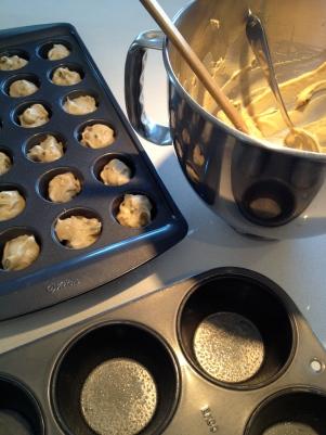 Filling the (bun) tins