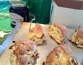 Gluten Free Scones for St. Patrick's Day