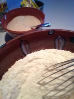 Blending the dry ingredients