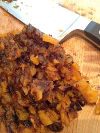 Chopped apricots - I incorporated some darker Blenheims