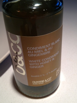 Used this special vinegar (honey ginger!)