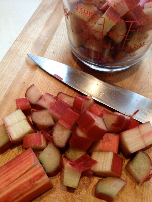 Rhubarb cut just the right size