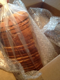 Baked goods were shipped frozen and were well packed