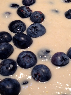 Blueberries scattered on top