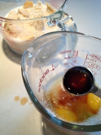 Vanilla extract plus eggs