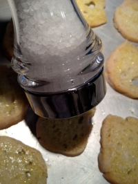 Grate salt over the top