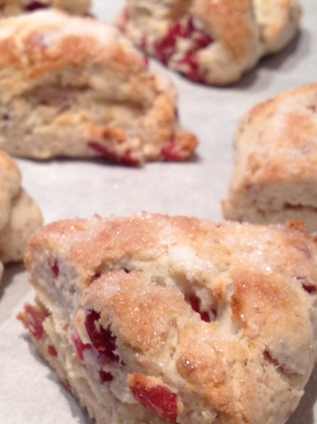 Cranberry Scones with Lemon Curd