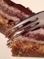 Beautiful layers of chocolate and banana