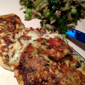 Gluten Free Zucchini Pancakes with Mint and Feta