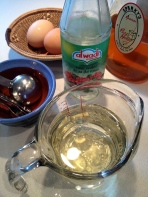 Rose water and oil
