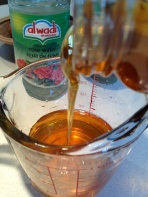 Adding the honey