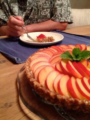 Fresh Plum Tart with Vegan Almond PastryCream