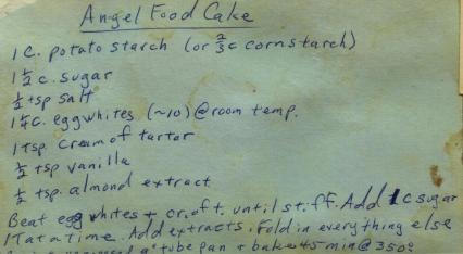 Someone's Mom's Handwritten Recipe