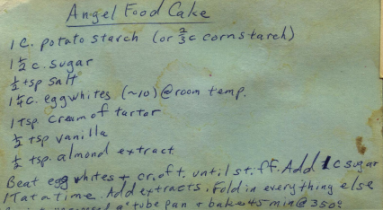 Someone's Mom's Handwritten Recipe