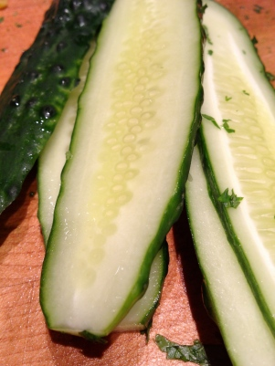 Cucumber for the green