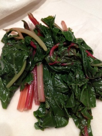Steamed chard (4-5 minutes)