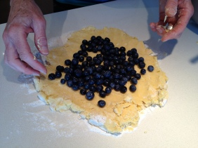 Incorporating the blueberries