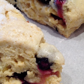 Gluten Free Fresh Corn Blueberry Scones