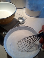 Whisking the dry ingredients