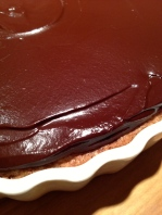 Topped with ganache