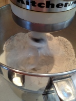 Mixing the dry ingredients to blend