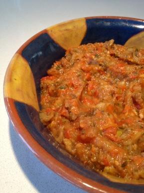 Aubergine and Tomato Spread:Zaalouk!