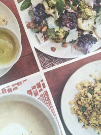 "Soup, Salad, ""Couscous"", and Oven Roasted"