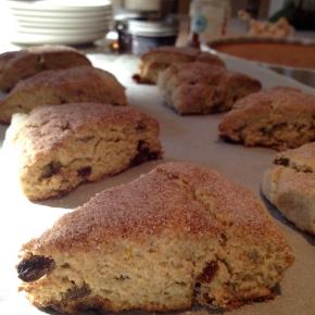 Gluten-free Oat-flour RaisinScones