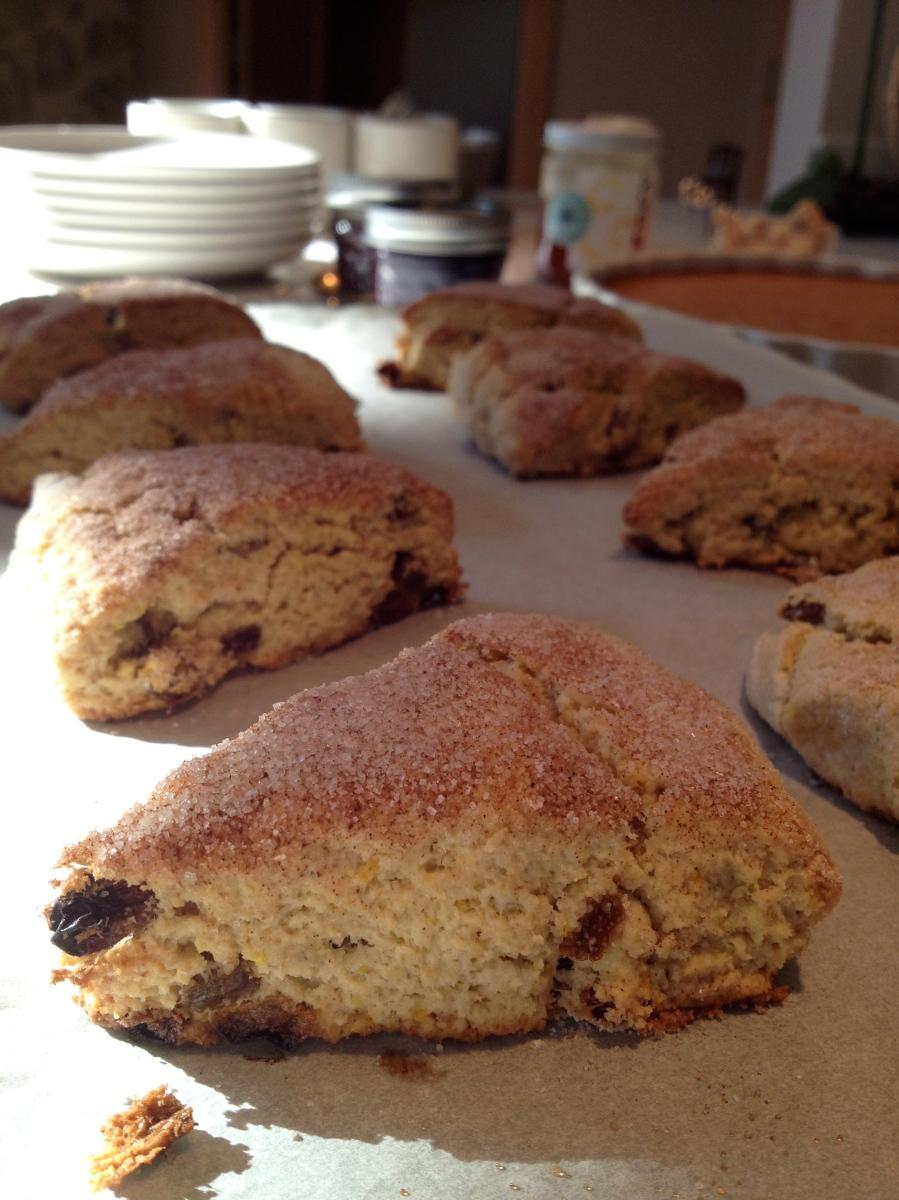 Gluten-free Oat-flour Raisin Scones | Gluten Free Gus