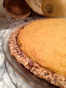Pumpkin Pie with Fig Newton Crust