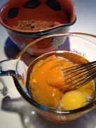 Whisking the eggs
