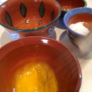Whisking the yolk before incorporating the browned butter