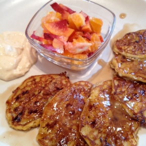 Gluten-free Pumpkin Cottage Cheese Pancakes