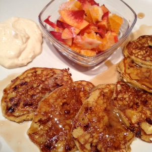 Plated Pumpkin Pancakes