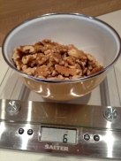 Weighing the walnuts