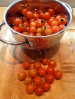 Second to last batch of grape tomatoes from the garden