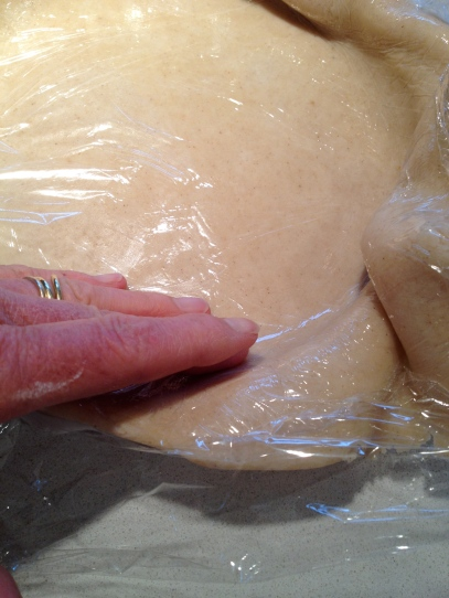 Pressing off the excess dough